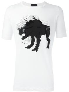 футболка с принтом монстра Diesel Black Gold