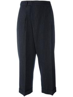 pinstriped tapered trousers Alberto Biani