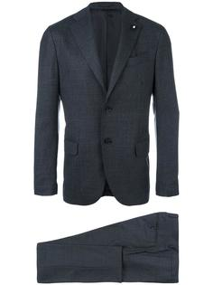 notched lapel formal suit Lardini