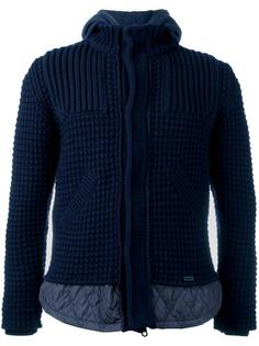 knitted hooded jacket  Bark