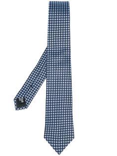 галстук с сетчатым принтом Armani Collezioni