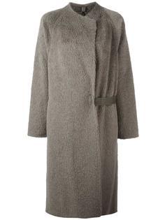 пушистое длинное пальто Helmut Lang