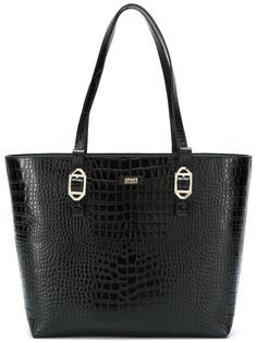 сумка-тоут с эффектом крокодиловой кожи Armani Collezioni