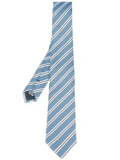галстук с полосатым принтом Armani Collezioni