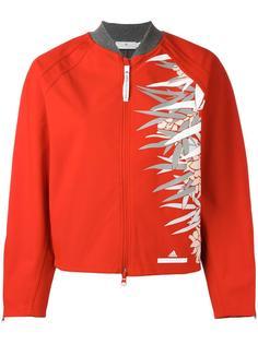 куртка-бомбер с абстрактным принтом Adidas By Stella Mccartney