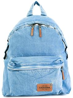 zip up denim backpack Eastpak