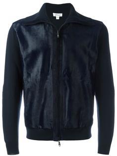куртка-бомбер с панелью из телячьей шерсти Brioni