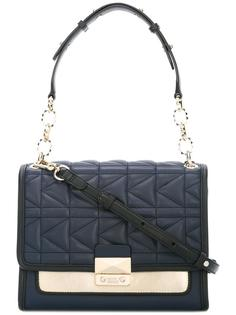 стеганая сумка среднего размера на плечо Karl Lagerfeld