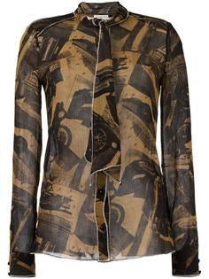 рубашка с абстрактным принтом Veronique Leroy