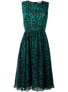 платье с леопардовым принтом Borbonese