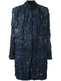 однобортное пальто с жатым эффектом Avant Toi