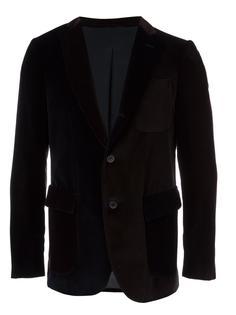 velvet colour block blazer Wooster + Lardini