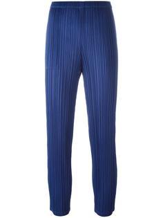 укороченные брюки кроя слим Pleats Please By Issey Miyake