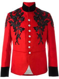 пиджак с декорированным воротником Alexander McQueen