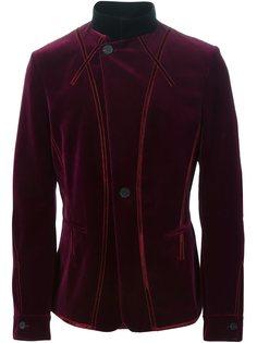бархатный пиджак с воротником-стойкой Haider Ackermann