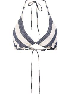 'Nadege' striped triangle bikini top Malia Mills