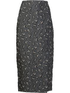'Dark Floral' skirt Brock Collection