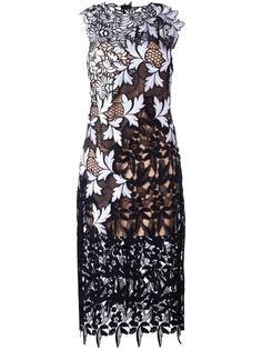 платье с цветочной вышивкой Self-Portrait