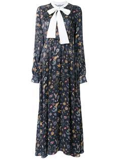 платье с длинными рукавами и завязками Vivetta