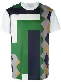 футболка с геометрическим принтом Salvatore Ferragamo