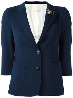 укороченный однобортный пиджак +People