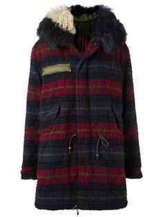 пальто в клетку с капюшоном Mr & Mrs Italy