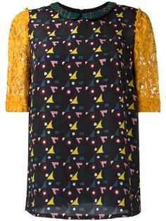 блузка с кружевными рукавами I'M Isola Marras