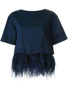 блузка с подолом из перьев  Le Ciel Bleu