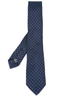 галстук с узором в ломаную клетку Ermenegildo Zegna