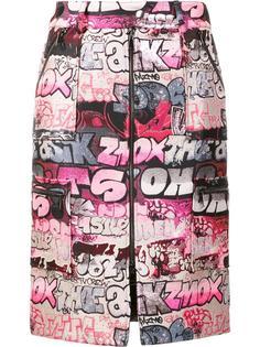 zip up jacquard skirt Giamba