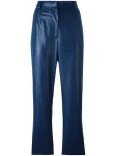 брюки с эффектом кожи Mm6 Maison Margiela