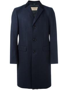 однобортное пальто Burberry