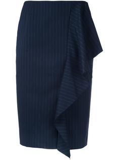 юбка-карандаш в полоску с оборками Strasburgo