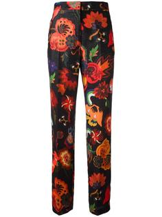 брюки с цветочным принтом Paul Smith
