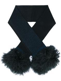 шарф с деталью из овчины Fendi