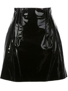 varnished effect a-line skirt Nina Ricci