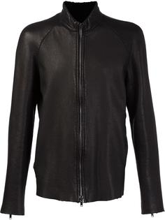 high neck zipper jacket Salvatore Santoro