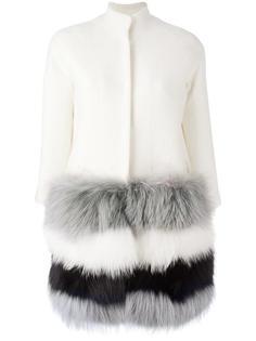 пальто с меховой оторочкой Ava Adore