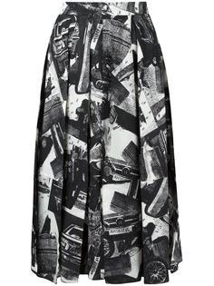 юбка с абстрактным принтом Veronique Leroy