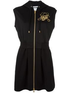 платье на молнии с капюшоном Moschino