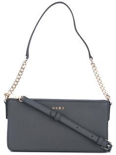 маленькая сумка через плечо с логотипом DKNY