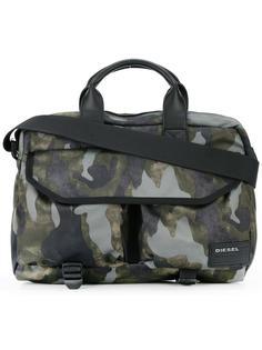 сумка с камуфляжным принтом Diesel
