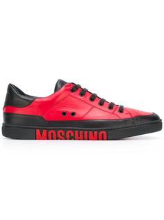 двухцветные кеды Moschino