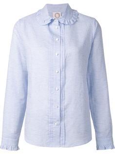 ruffle collar grid print shirt Ines De La Fressange