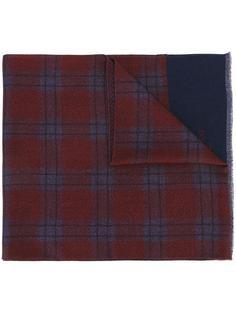 клетчатый шарф с необработанными краями Corneliani