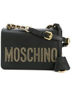 сумка через плечо с логотипом и заклепками Moschino