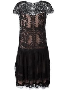 прозрачное платье с короткими рукавами Alberta Ferretti