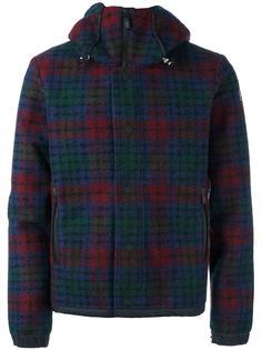 клетчатая куртка с капюшоном Moncler Grenoble
