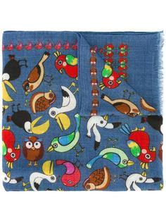 шарф с принтом животных Fefè