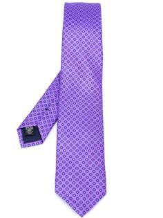 галстук с узором из кружков Ermenegildo Zegna